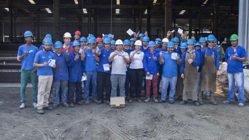 A PROAÇO realizou ação referente ao Dia Nacional de Prevenção de Acidentes de Trabalho.