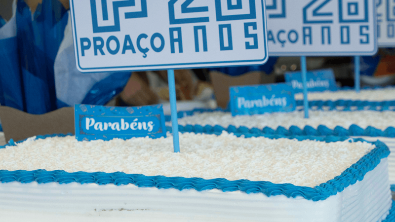 PROAÇO realiza evento especial para comemorar os 26 anos de empresa.