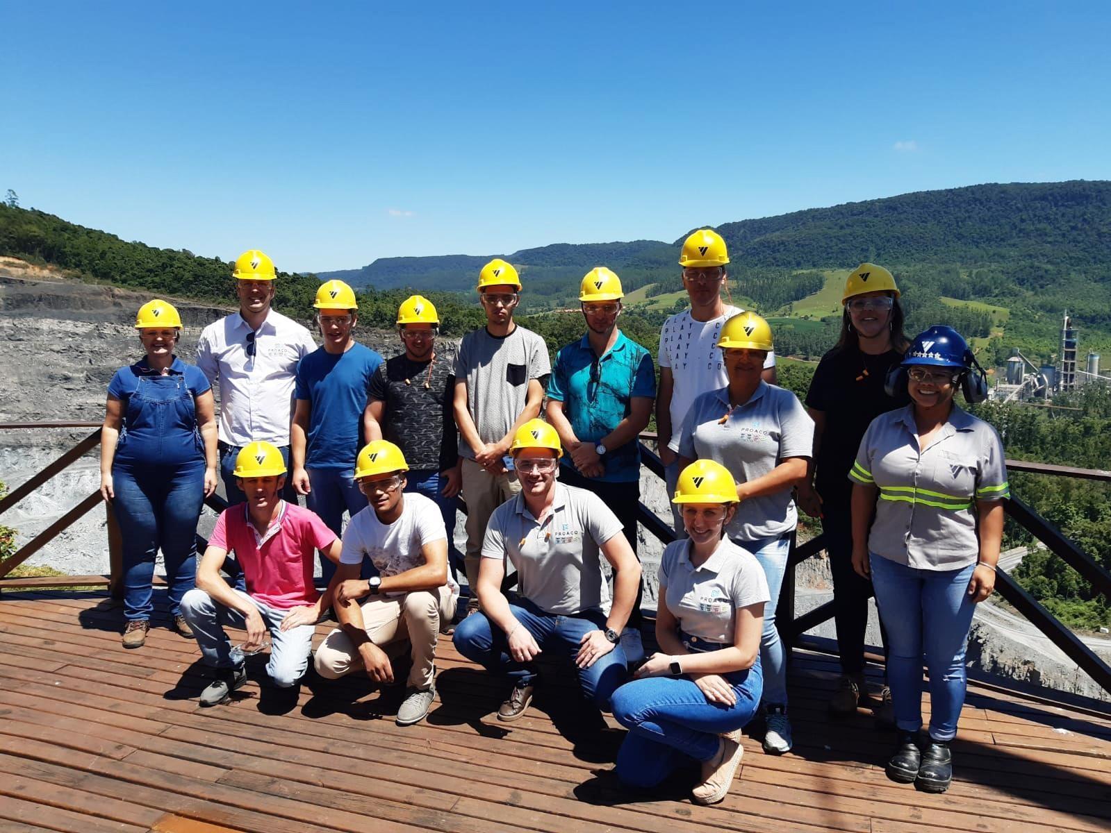 PROAÇO realiza visita técnica na empresa Votorantim Cimentos em Vidal Ramos.