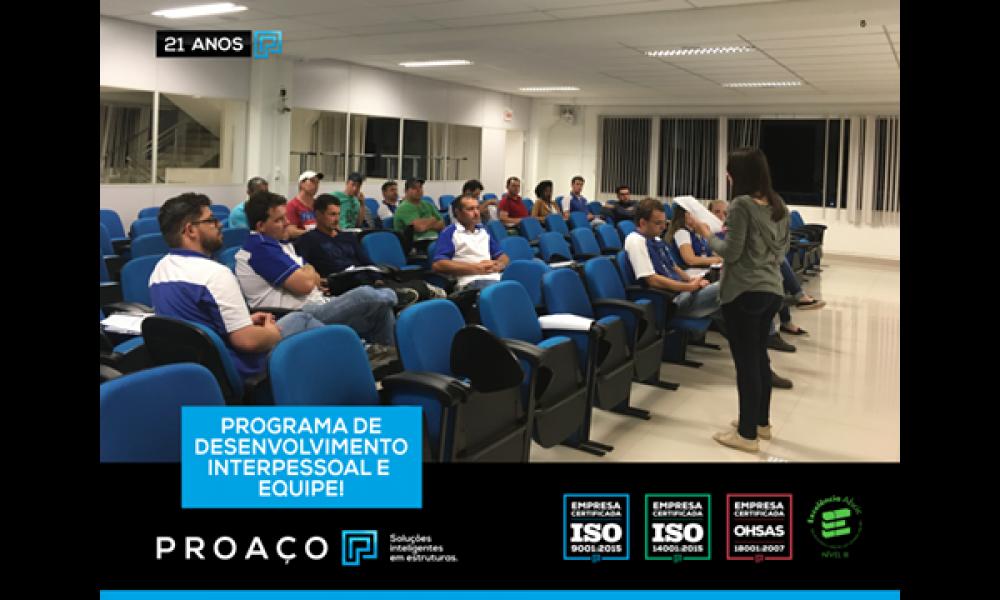 Promovendo o Programa de Desenvolvimento Interpessoal e de Equipe!